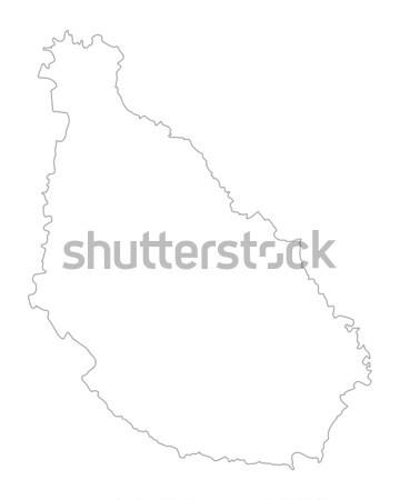 地図 サンティアゴ ベクトル 孤立した 実例 グレー ストックフォト © rbiedermann