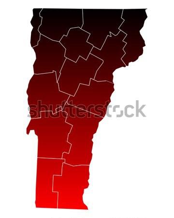 Térkép Vermont utazás piros USA izolált Stock fotó © rbiedermann
