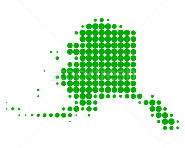 Térkép Alaszka zöld minta Amerika kör Stock fotó © rbiedermann