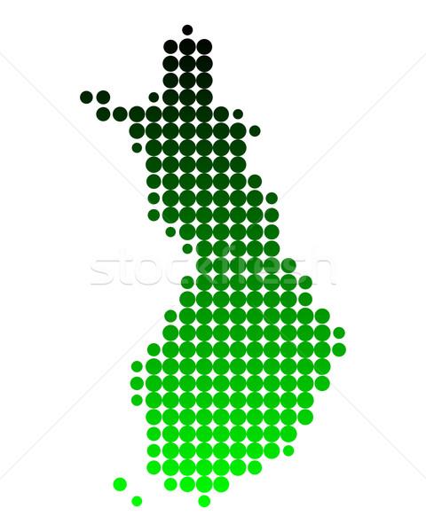 Mapa Finlândia verde padrão círculo ponto Foto stock © rbiedermann