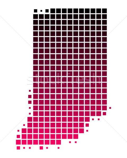 Mapa Indiana padrão rosa américa roxo Foto stock © rbiedermann