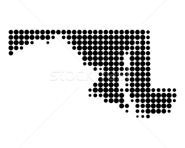 Térkép Maryland fekete minta kör USA Stock fotó © rbiedermann