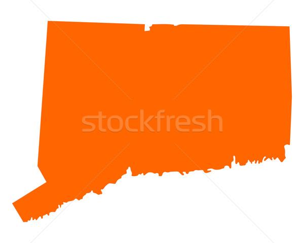 Mapa Connecticut viajar américa EUA isolado Foto stock © rbiedermann