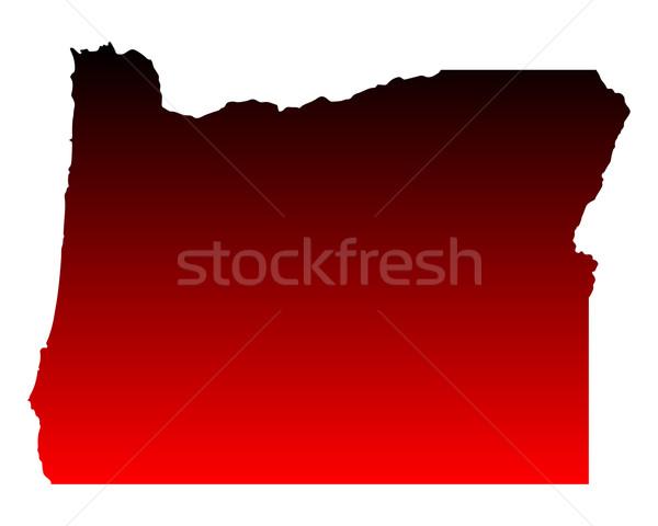 Map of Oregon Stock photo © rbiedermann