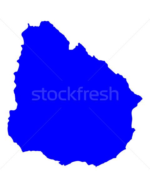 地図 ウルグアイ 青 ベクトル 孤立した ストックフォト © rbiedermann