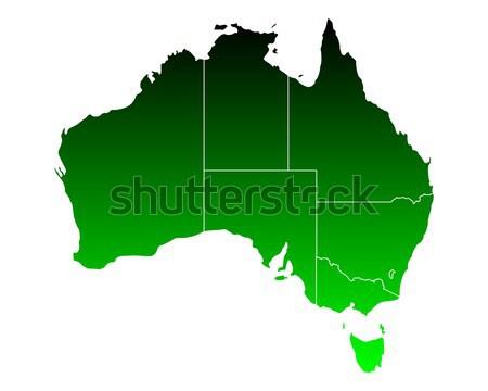 Stok fotoğraf: Harita · yeşil · ada · vektör · yalıtılmış · örnek