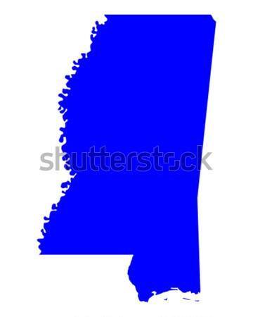 Harita Mississipi mavi seyahat Amerika ABD Stok fotoğraf © rbiedermann