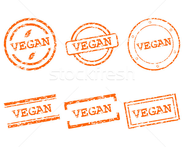 Vegan timbres affaires tampon graphique vente Photo stock © rbiedermann