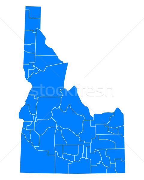 Harita Idaho arka plan mavi hat vektör Stok fotoğraf © rbiedermann