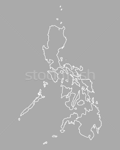 Kaart Filippijnen achtergrond geïsoleerd illustratie Stockfoto © rbiedermann