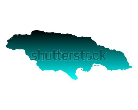 Mapa Jamaica verde vetor isolado Foto stock © rbiedermann