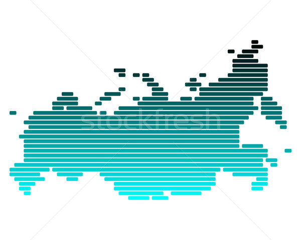 Carte Russie vert bleu ligne lignes Photo stock © rbiedermann
