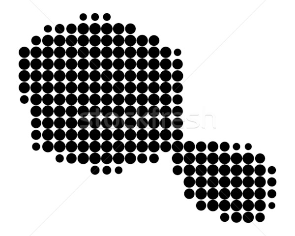 Harita tahiti siyah model daire nokta Stok fotoğraf © rbiedermann
