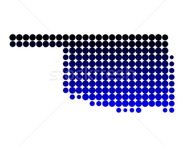 Mapa Oklahoma padrão américa círculo EUA Foto stock © rbiedermann