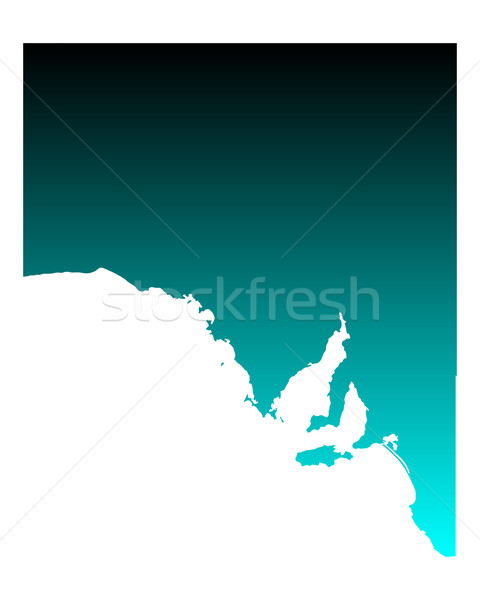 Mapa sul da austrália verde azul vetor Austrália Foto stock © rbiedermann