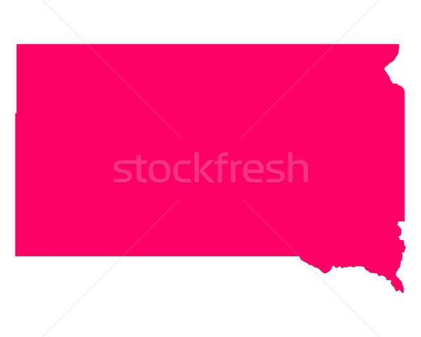 Kaart South Dakota reizen amerika paars geïsoleerd Stockfoto © rbiedermann