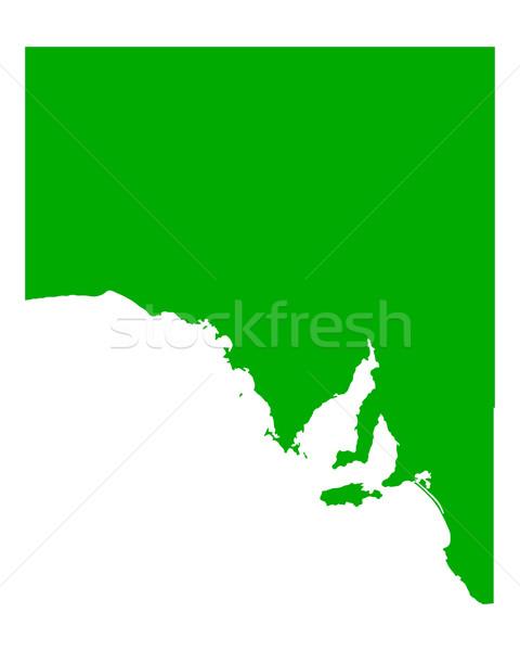 Mapa sul da austrália verde vetor Austrália isolado Foto stock © rbiedermann