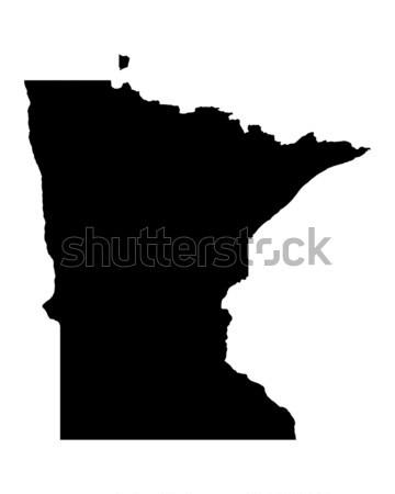 ストックフォト: 地図 · ミネソタ州 · 背景 · 行 · アメリカ · 米国