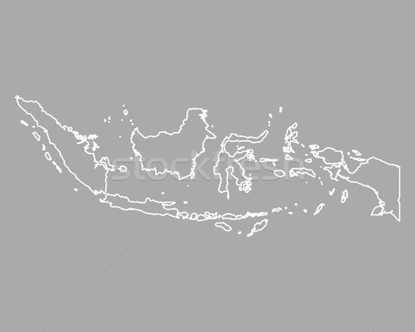 Mapa Indonésia fundo isolado ilustração Foto stock © rbiedermann