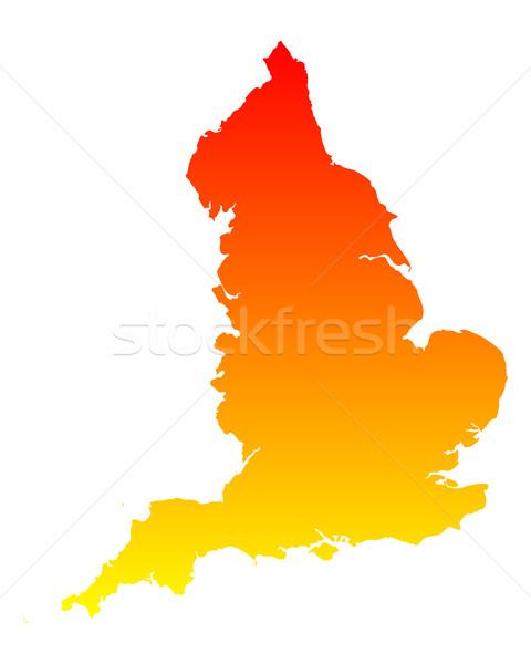 Térkép Anglia vektor izolált Stock fotó © rbiedermann