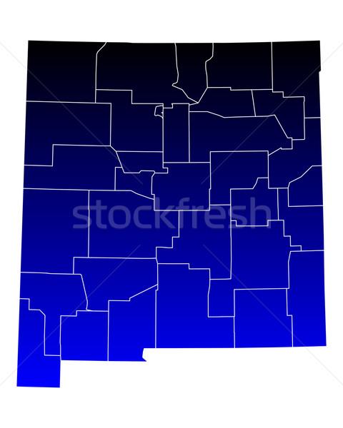 Mapa Nuevo México azul viaje EUA México Foto stock © rbiedermann