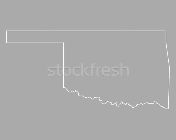 Kaart Oklahoma USA vector geïsoleerd illustratie Stockfoto © rbiedermann