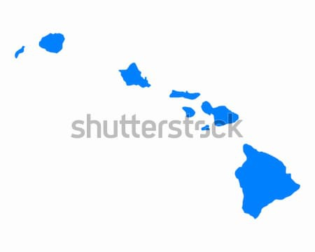 Harita Hawaii mavi Amerika ABD vektör Stok fotoğraf © rbiedermann