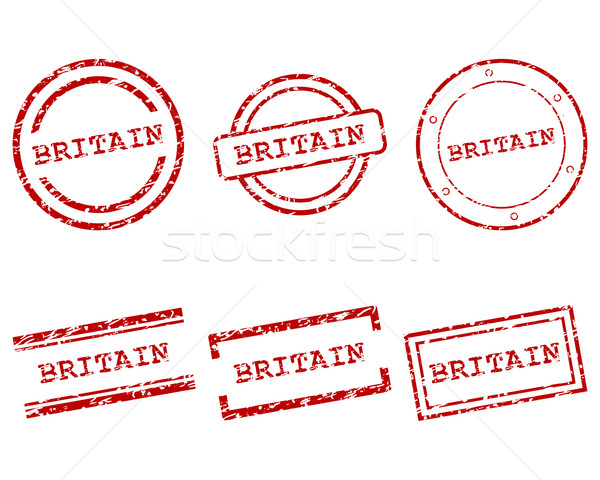 Grande-bretagne timbres design lettre tampon tag Photo stock © rbiedermann