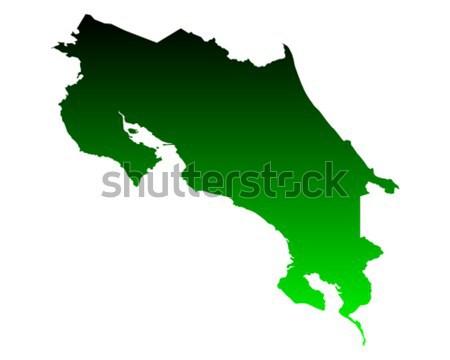 Térkép Costa Rica zöld vektor izolált Stock fotó © rbiedermann