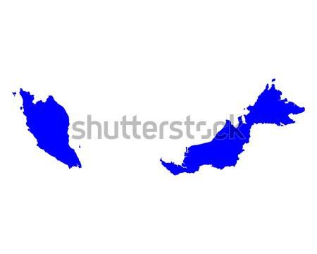 Mappa Malaysia blu viaggio vettore Foto d'archivio © rbiedermann