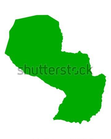 Mappa Paraguay verde viaggio vettore Foto d'archivio © rbiedermann