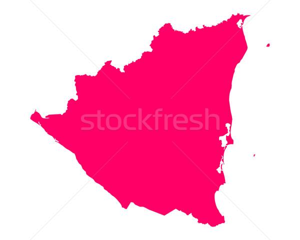 Mapa Nicarágua viajar roxo vetor Foto stock © rbiedermann