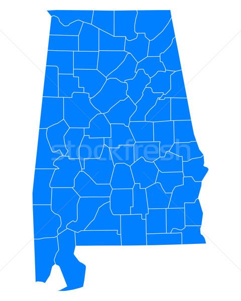 карта Алабама фон синий линия вектора Сток-фото © rbiedermann