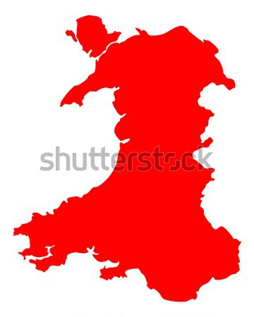 Map of Wales Stock photo © rbiedermann