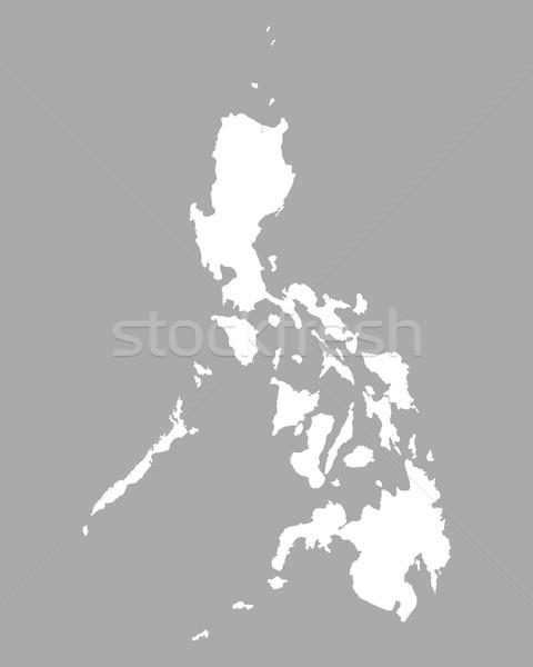 地図 フィリピン 背景 孤立した 実例 ストックフォト © rbiedermann
