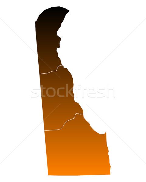 Mapa eua vetor isolado ilustração marrom Foto stock © rbiedermann
