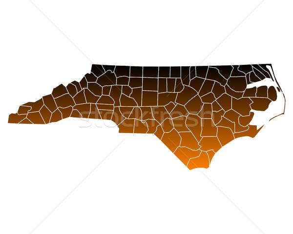 Térkép észak USA vektor izolált illusztráció Stock fotó © rbiedermann
