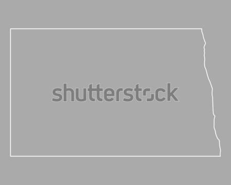 Stok fotoğraf: Harita · Kuzey · Dakota · ABD · vektör · yalıtılmış · örnek