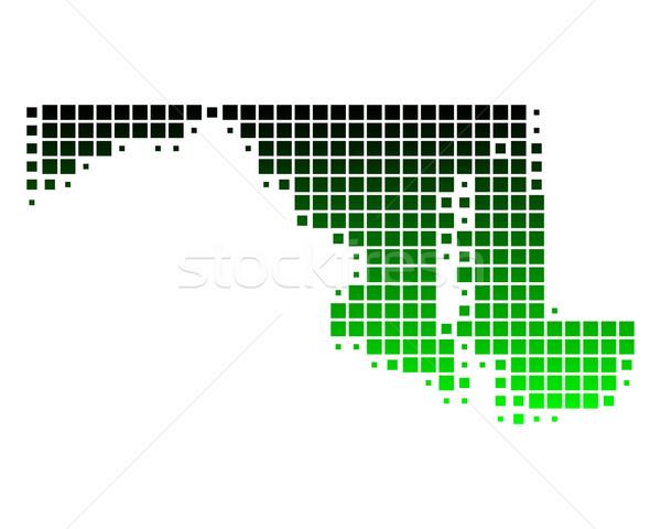 Mappa Maryland verde pattern america USA Foto d'archivio © rbiedermann