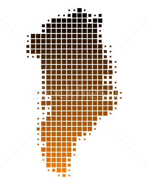 Stok fotoğraf: Harita · seyahat · model · kare · örnek · kahverengi