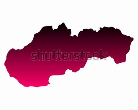 Mapa Eslováquia fundo linha vetor Foto stock © rbiedermann