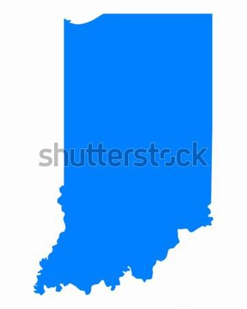 Mapa Indiana azul viajar américa EUA Foto stock © rbiedermann