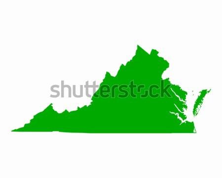 Térkép Virginia zöld utazás Amerika USA Stock fotó © rbiedermann