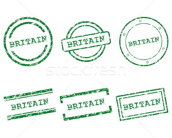 Groot-brittannië postzegels ontwerp brief stempel tag Stockfoto © rbiedermann