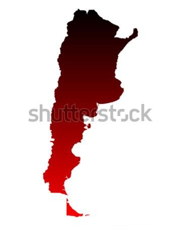 Carte Argentine fond ligne pourpre vecteur Photo stock © rbiedermann