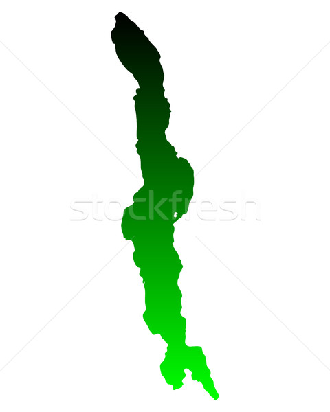 Map of Lake Malawi Stock photo © rbiedermann