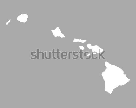Map of Hawaii Stock photo © rbiedermann