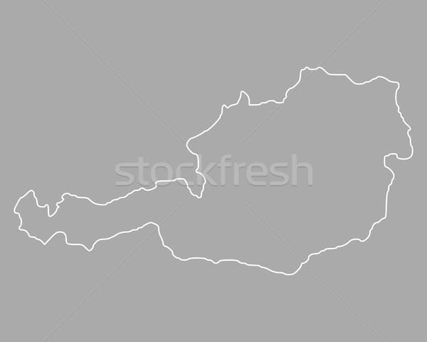 Mapa Áustria fundo isolado ilustração Foto stock © rbiedermann