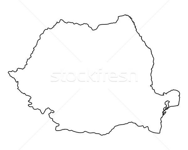 Map Of Romania Vector Illustration C Robert Biedermann