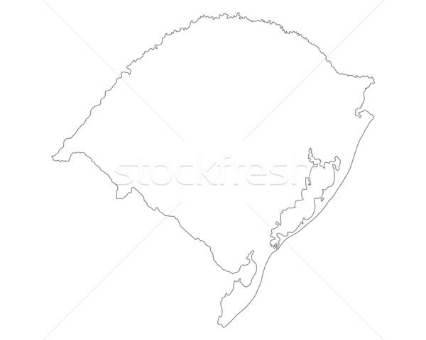 Térkép Rio Brazília izolált illusztráció szürke Stock fotó © rbiedermann